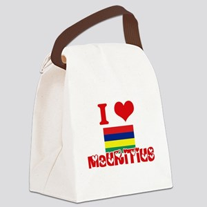 I Love Mauritius Canvas Lunch Bag