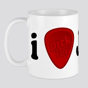 I Pick For Jesus Guitar Pick Mug