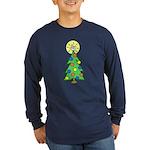 ILY Christmas Tree Long Sleeve Dark T-Shirt