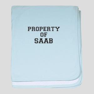 Property of SAAB baby blanket