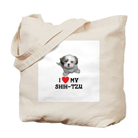 I Love My Shih-Tzu Tote Bag