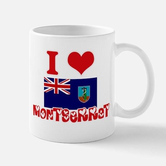 I Love Montserrat Mugs