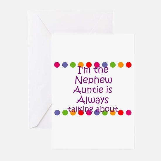 I'm the Nephew Auntie is Alwa Greeting Cards (Pk o