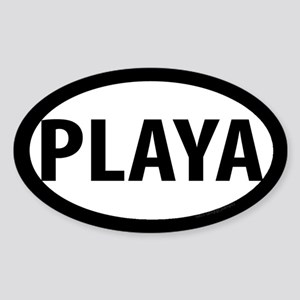 Playa Oval Sticker