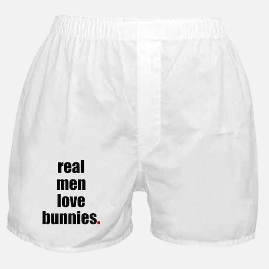 Real Men love bunnies Boxer Shorts