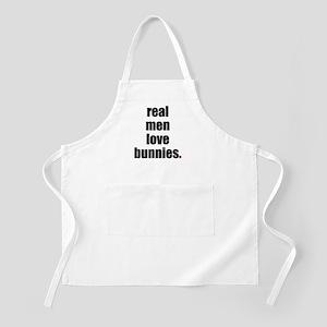 Real Men love bunnies BBQ Apron