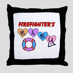 Firefighter's Baby Throw Pillow