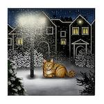 ORANGE TABBY CAT Tile Coaster