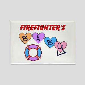 Firefighter's Baby Rectangle Magnet