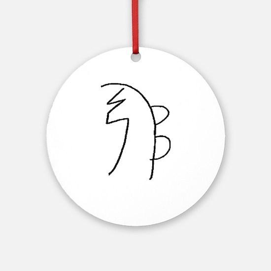 Se-he-ki (Mrs. Takata Hand Drawn) Ornament (Round)