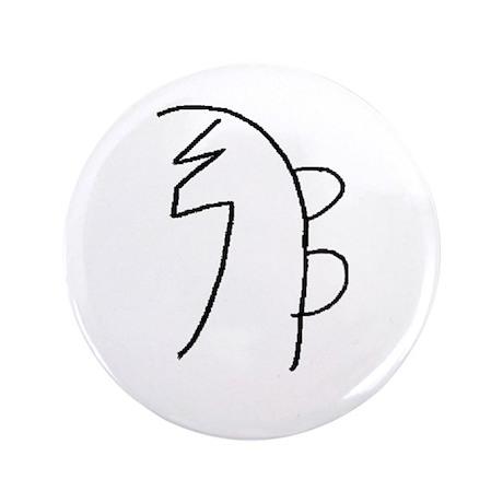 "Se-he-ki (Mrs. Takata Hand Drawn) 3.5"" Button"