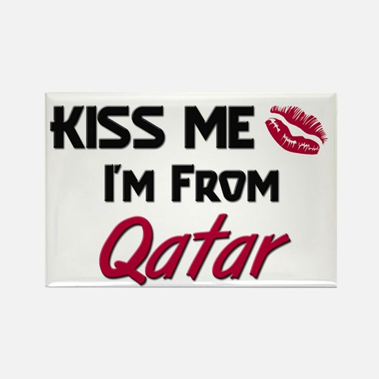 Kiss Me I'm from Qatar Rectangle Magnet