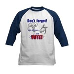 Don't Forget to Vote! Kids Baseball Jersey