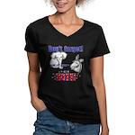 Don't Forget to Vote! Women's V-Neck Dark T-Shirt