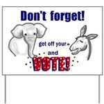 Don't Forget to Vote! Yard Sign