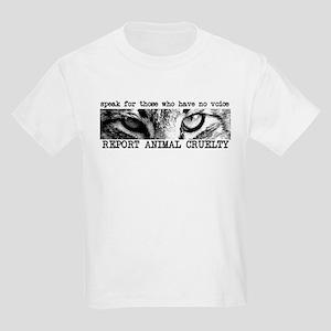 Report Animal Cruelty Cat Kids Light T-Shirt