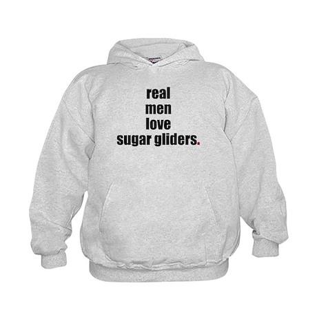 Real men love sugar gliders Kids Hoodie