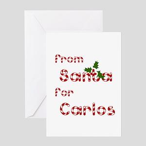 From Santa For Carlos Greeting Card
