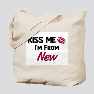 Kiss Me I'm from New Tote Bag