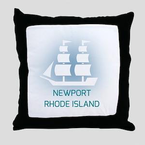 Newport R.I. Throw Pillow