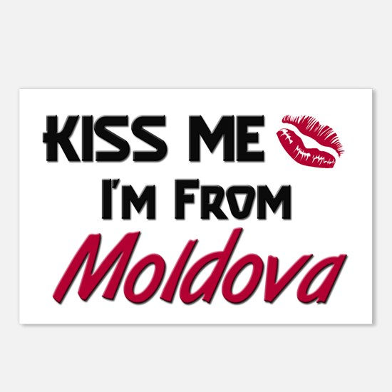 Kiss Me I'm from Moldova Postcards (Package of 8)
