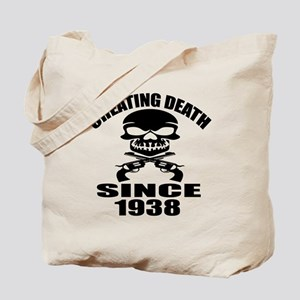 Cheating Death Since 1938 Birthday Design Tote Bag