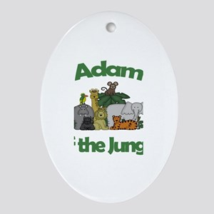 Adam of the Jungle Oval Ornament