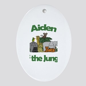 Aiden of the Jungle Oval Ornament