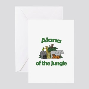 Alana of the Jungle Greeting Card
