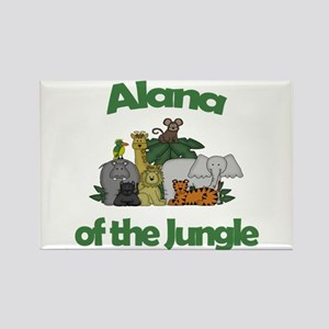 Alana of the Jungle Rectangle Magnet