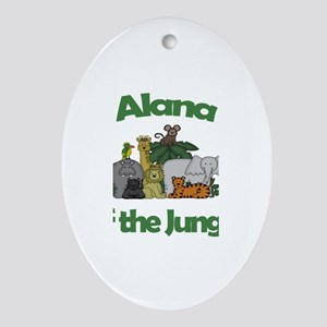 Alana of the Jungle Oval Ornament