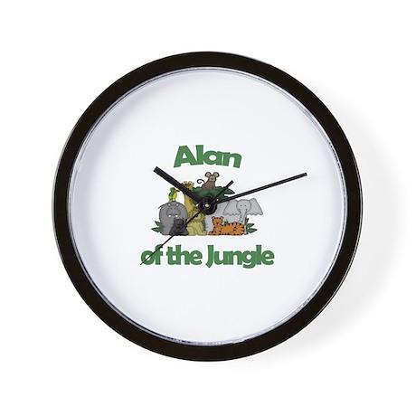 Alan of the Jungle Wall Clock