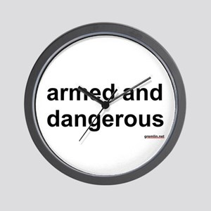 BTR: armed and dangerous Wall Clock