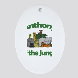 Anthony of the Jungle Oval Ornament