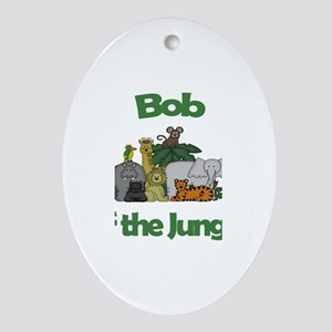 Bob of the Jungle Oval Ornament