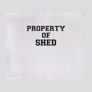 Property of SHED Throw Blanket