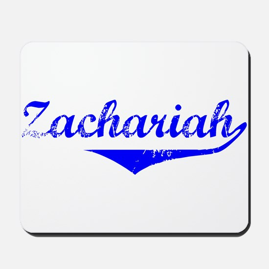 Zachariah Vintage (Blue) Mousepad