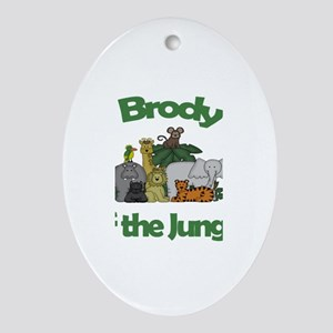 Brody of the Jungle Oval Ornament