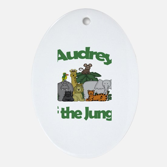 Audrey of the Jungle Oval Ornament