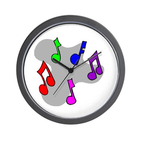 Musical Notes Design Wall Clock