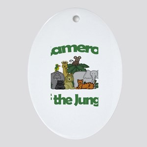 Cameron of the Jungle Oval Ornament