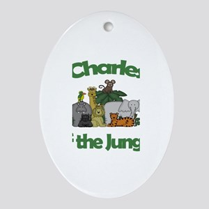 Charles of the Jungle Oval Ornament