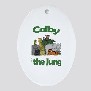 Colby of the Jungle Oval Ornament