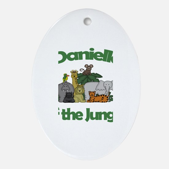 Danielle of the Jungle Oval Ornament