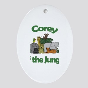 Corey of the Jungle Oval Ornament