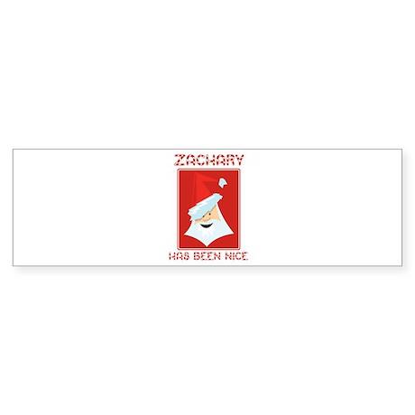 ZACHARY has been nice Bumper Sticker