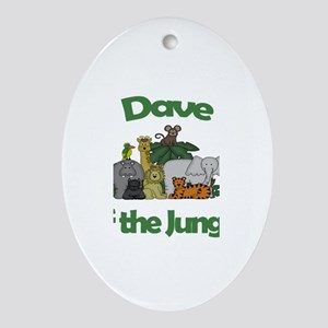Dave of the Jungle Oval Ornament