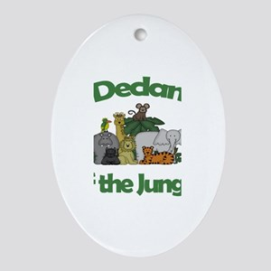 Declan of the Jungle Oval Ornament