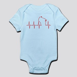 Wisconsin Heartbeat Body Suit