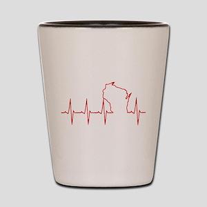 Wisconsin Heartbeat Shot Glass